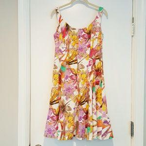 NINE WEST FLORAL FIT & FLAIR DRESS